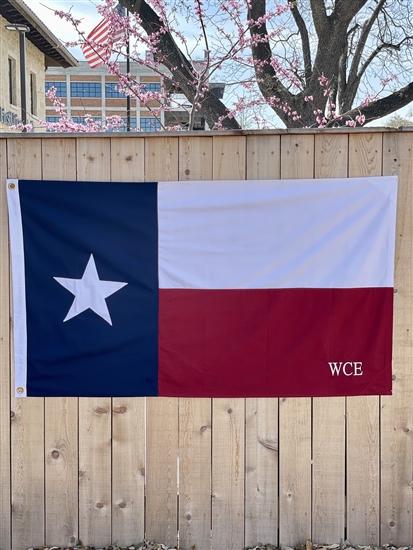 Monogrammed Texas Flag