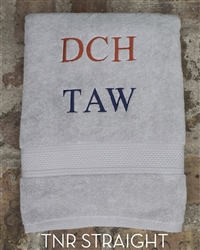Custom Towel - TNR Straight -Gray