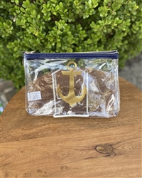 Clear Anchor Cosmetic Bag