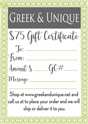 $75 Gift Certificate (email,  text, or deliver)