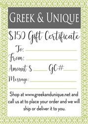 $150 Gift Certificate (email,  text, or deliver)