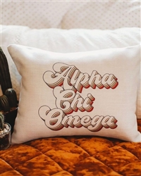 Retro Pillow - Alpha Chi Omega
