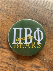 Baylor Pi Phi loves the Bears (green) Pin