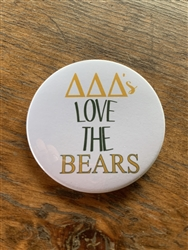 Baylor Tri Delta Loves The Bear (white) Pin