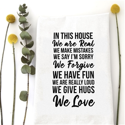 In This House Tea Towel