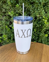 Sorority White Swig 20 oz. - Alpha Chi Omega