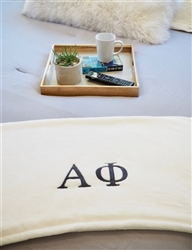 White Plush Blanket - Alpha Phi