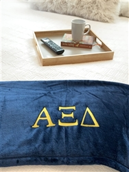 White Plush Blanket - Alpha Xi Delta