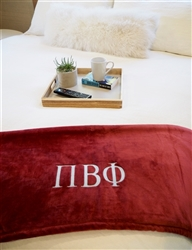 Wine Plush Blanket - Pi Phi