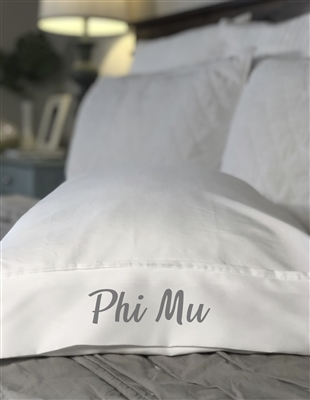 Monogrammed Pillowcase - Phi Mu