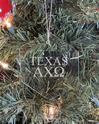 Glass Ornament - TX Alpha Chi Omega