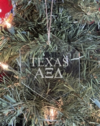 Glass Ornament - TX Alpha Xi Delta