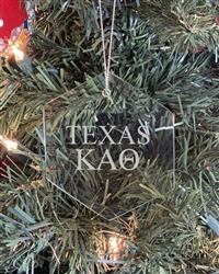Glass Ornament - TX Kappa Alpha Theta