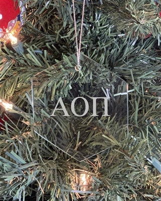 Glass Ornament - Alpha Omicron Pi