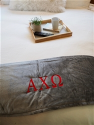 Grey Plush Blanket - Alpha Chi