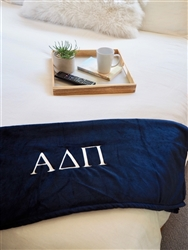 Navy Plush Blanket - Alpha Delta Pi
