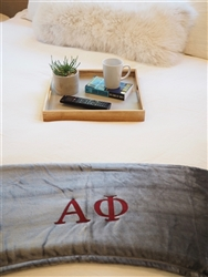 Grey Plush Blanket - Alpha Phi