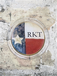Custom Texas Flag Coaster