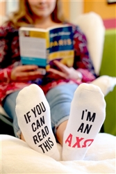 Alpha Chi Socks - If you you can read this