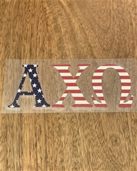 USA Decal - Alpha Chi Omega