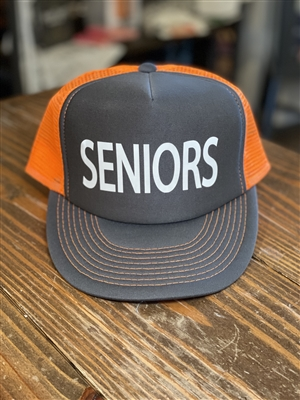 Seniors Trucker Hat - Orange/Gray