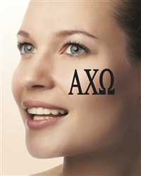 Face Tattoos -Alpha Chi Omega