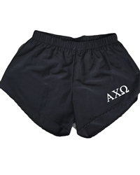 Black Sorority Shorts - Alpha Chi
