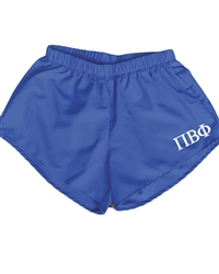 Blue Sorority Shorts - Pi Phi