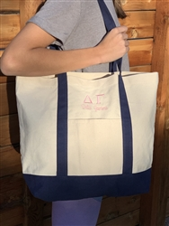Alpha Chi Canvas Tote