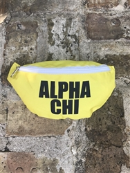 Alpha Chi Omega Yellow Fanny Pack