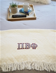Pi Beta Phi  Keepsake Blanket Two Tone