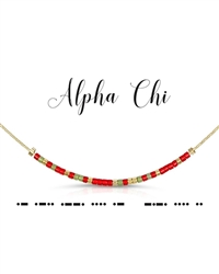 Morse Code Necklace - Alpha Chi Omega