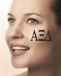 Face Tattoos - Alpha Xi Delta