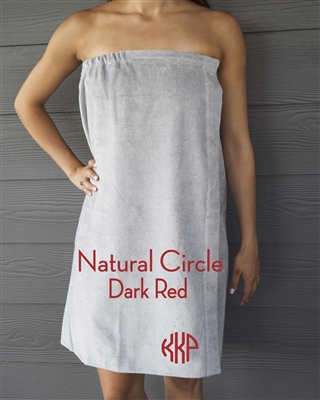 Gray Towel Wrap - NC - DarkRed