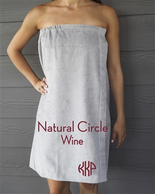Gray Towel Wrap - NC - Wine
