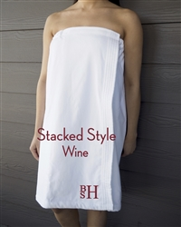 White Towel Wrap - Stacked - Wine