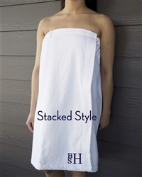 White Towel Wrap - Stacked