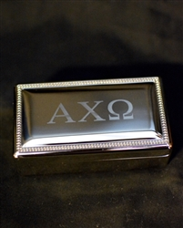 Silver Pin Box - Alpha Chi Omega