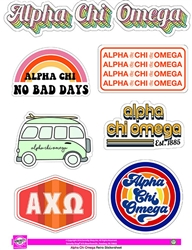 Retro Stickers - Alpha Chi