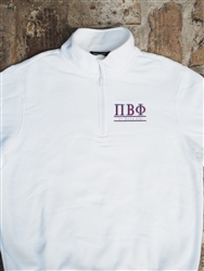White Sweatshirt - Pi Phi 2 Colors