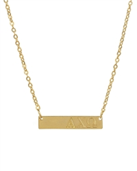 Sorority Gold Bar Necklace - Alpha Chi Omega