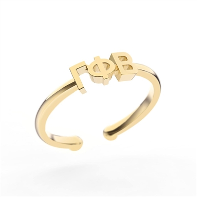 NNY Gold Letter Ring - Gamma Phi Beta