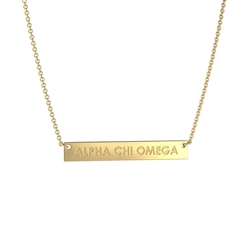 NNY Gold Bar Necklace - Alpha Chi Omega