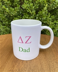 Delta Zeta Sorority Dad Coffee Mug